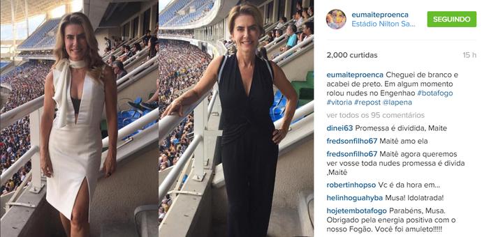 Maitê Proença; Instagram; promessa (Foto: Reprodução/Internet)