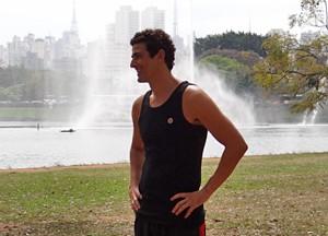 Uma das primeiras gravações, foi no Parque Ibirapuera (São Paulo) (Foto: Guerra dos Sexos/ TV Globo)