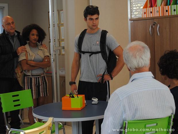 O Fera é mto fofo! O lindo vacilou com a Ritinha, mas vai consertar a bola fora! (Foto: Malhação / Tv Globo)