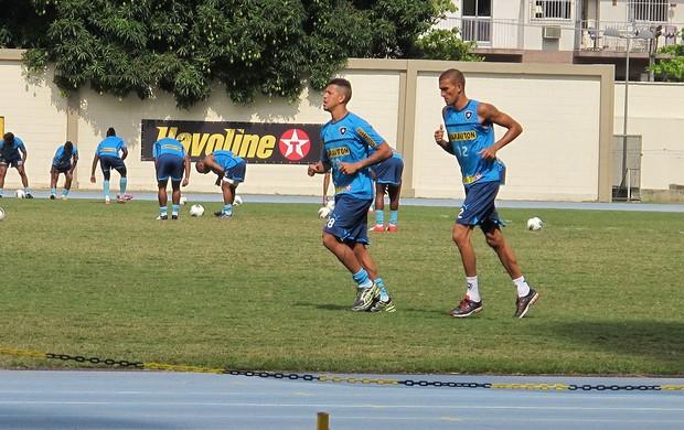 Antonio Carlos e Rafael Marques, Botafogo (Foto: Thales Soares / Globoesporte.com)