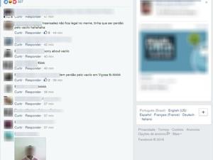Internautas comentam foto de homem pedindo desculpas a PM em Viçosa (Foto: Reprodução/Facebook)