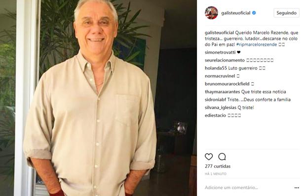 Adriane Galisteu lamenta a morte de Marcelo Rezende (Foto: Reprodução / Instagram)