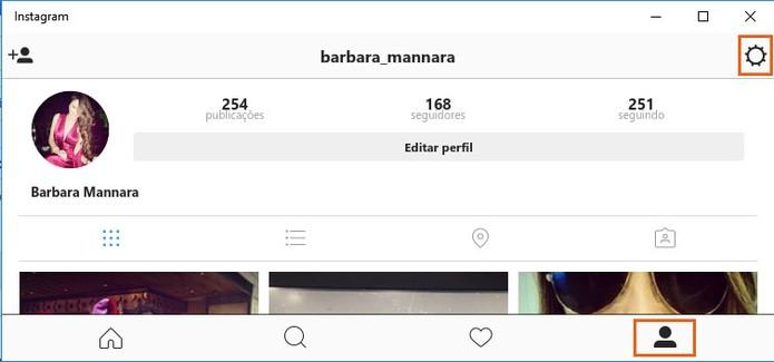 Acesse as configurações do Instagram na sua conta pelo computador (Foto: Reprodução/Barbara Mannara) (Foto: Acesse as configurações do Instagram na sua conta pelo computador (Foto: Reprodução/Barbara Mannara))