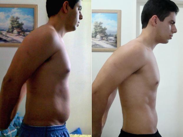 Renato perdeu 13 kg e diminuiu o tamanho de sua cintura (Foto: Arquivo pessoal)