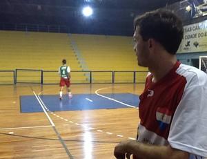 Rodrigo, de Volta Redonda, autor do gol da classificação para a final (Foto: Ana Cláudia Gonçalves/GLOBOESPORTE.COM)