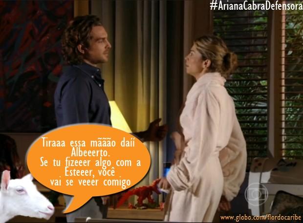 Alberto e Ester (Foto: Flor do Caribe/TV Globo)