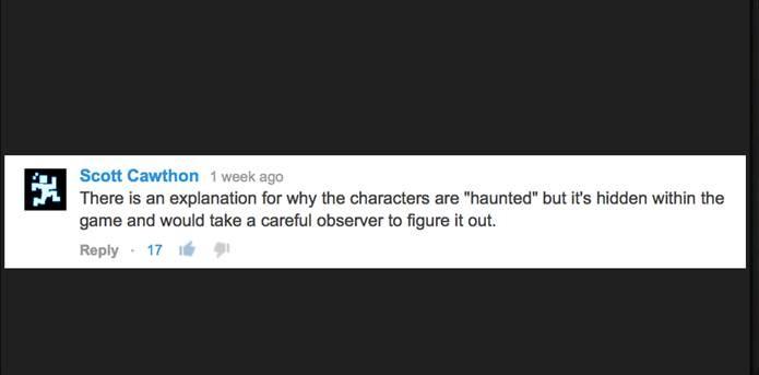 O próprio criador do jogo confirma que os bonecos são mal assombrados (Foto: Reprodução)