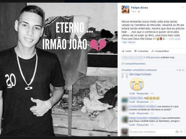 73265664ae8 Nas redes sociais amigos lamentaram morte de adolescente. Enterro foi na manhã  desta segunda.