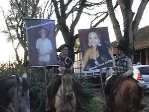 Cavalarianos partiram de São Gabriel, RS, na manhã desta sexta-feira (Foto: Reprodução/ RBS TV)