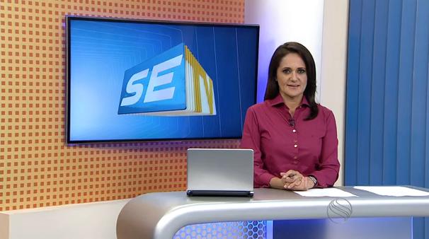 Carla Suzanne apresenta o telejornal nesta sexta-feira, 17 (Foto: Divulgação / TV Sergipe)