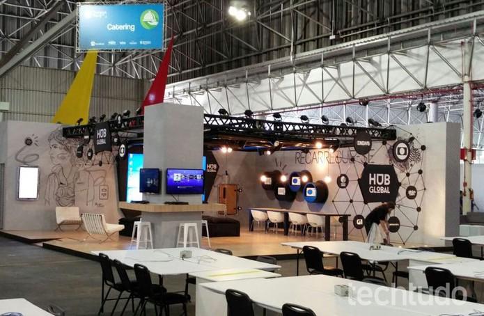 Campus Party 2016, tudo 'quase pronto'; vai começar a CPBR 9 (Foto: Fabrício Vitorino/TechTudo)