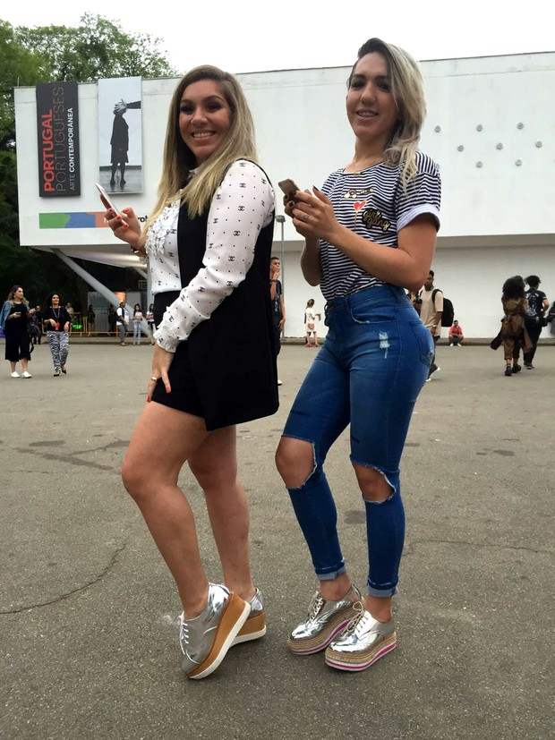 Thassiane Brustolin e Karla Phethovick (Foto: Cristiane Rodrigues / EGO)