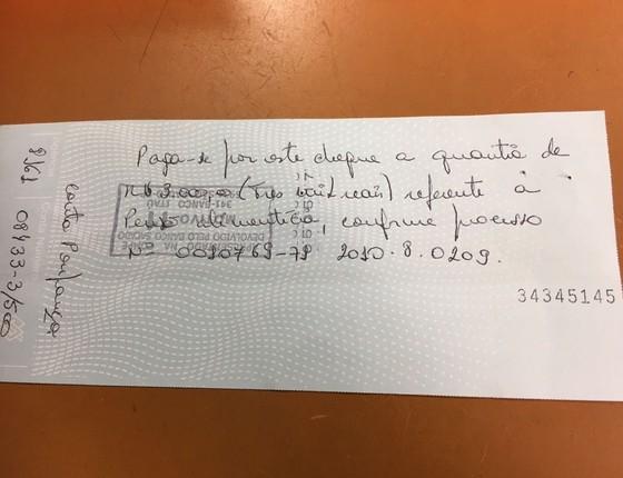 Cheque do deputado federal Pedro Paulo (PMDB-RJ) foi devolvido pelo banco  (Foto: Reprodução)