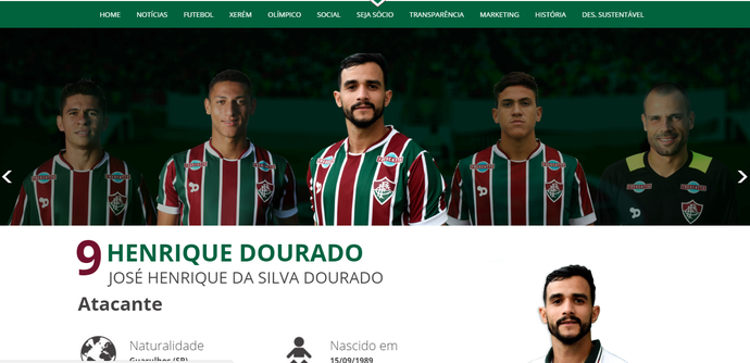 Henrique Dourado é o novo camisa 9 do Fluminense (Foto  Reprodução site  oficial do ef022d6ddadd8