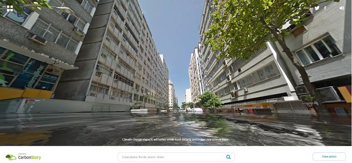 Copacabana Inundada (Foto: Reprodução/Edivaldo Brito)