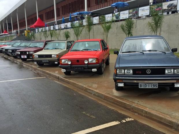 Carros clássicos da Volkswagen no Salão do Automóvel (Foto: André Paixão/G1)