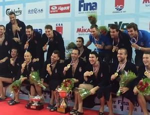 Sérvia é campeã da Liga Mundial de polo aquático (Foto: Divulgação)