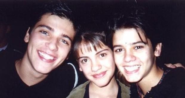 Bruno Gagliasso, Elisa Veeck e Yuri Xavier: triângulo amoroso em Chiquititas (Foto: Reprodução)