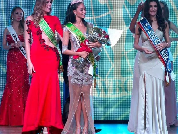 Sabrina foi eleita a Miss Brasil Intercontinental (Foto: Arquivo Pessoal/Sabrina Sancler)