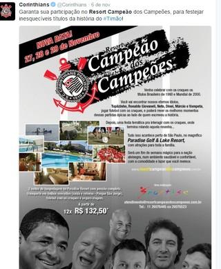 Evento resort temático Corinthians (Foto: Reprodução/Twitter)