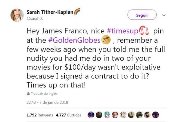 Sarah Tither-Kaplan no Twitter (Foto: Reprodução/Twitter)