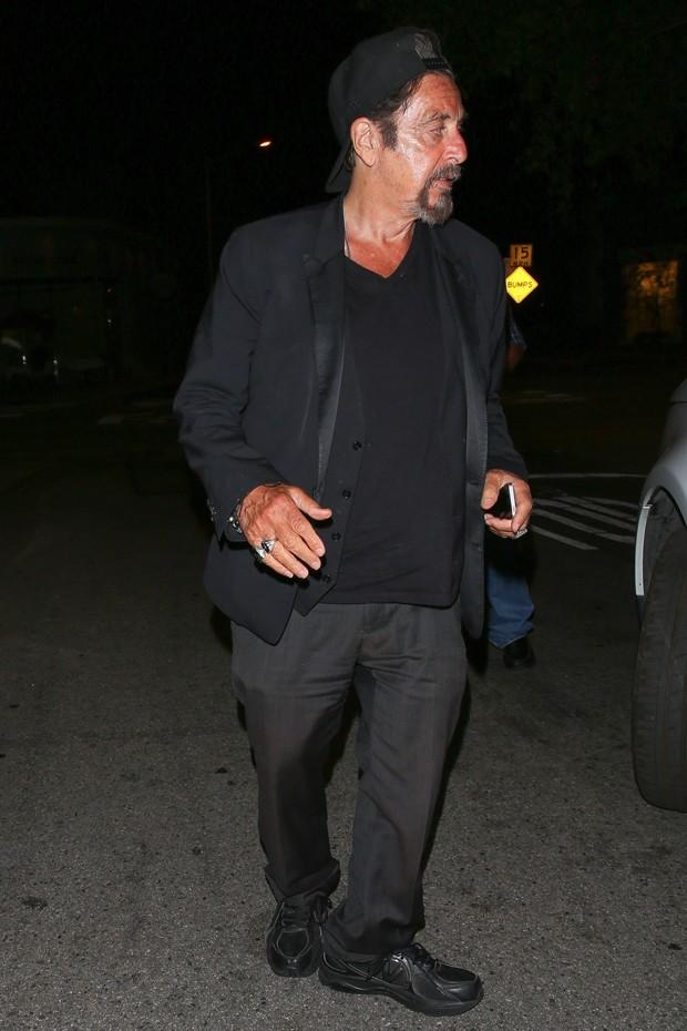 O escorregão de estilo de Al Pacino (Foto: AKM-GSI)