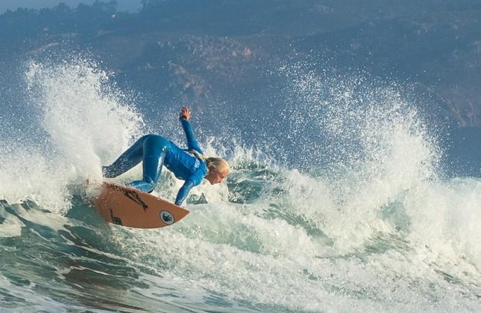 Tatiana Weston-Webb ficou em terceiro na etapa de Cascais do Mundial de Surfe (Foto: Divulgação / WSL)