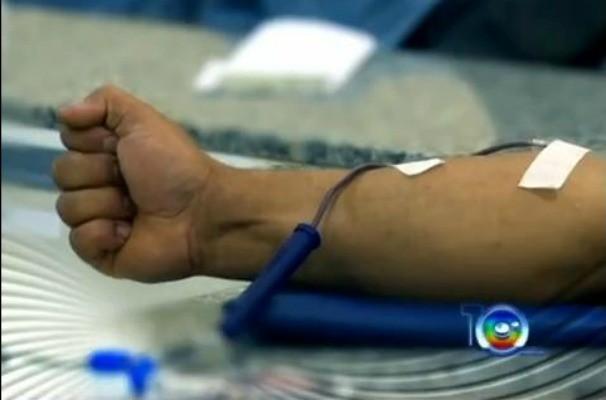 Doação de sangue (Foto: Reprodução / TV TEM)