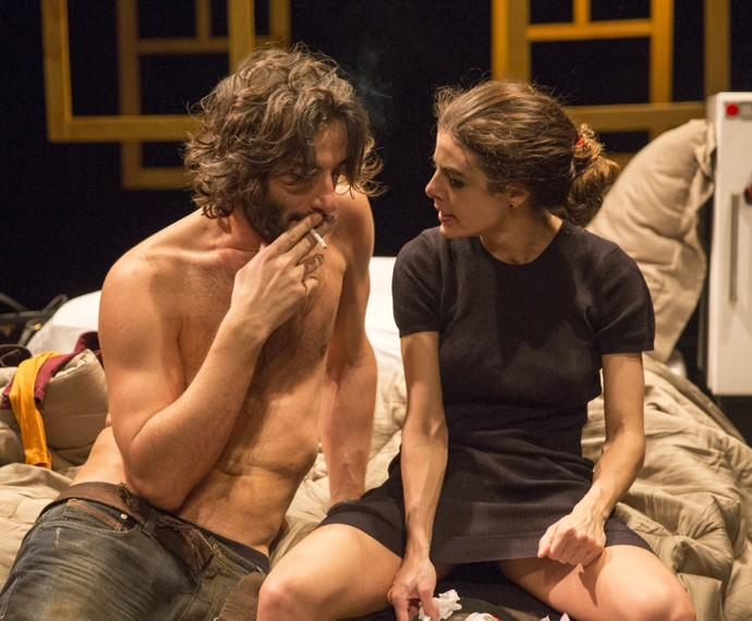 Flávio Tolezani e Natlia Gonsales estão em cartaz com a peça Fala Comigo Antes da Bomba Cair (Foto: Arquivo pessoal)