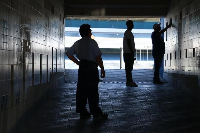 Grêmio não deverá usar mais as dependências do Olímpico (Foto: Eduardo Deconto/GloboEsporte.com)