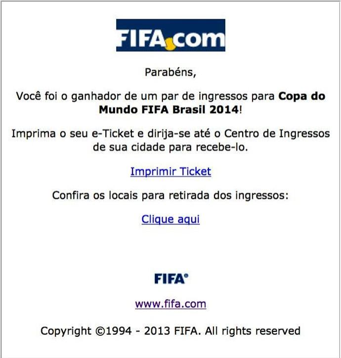 Venda de ingressos da copa do mundo 2014 pelo facebook (Foto: Reprodução / Facebook)