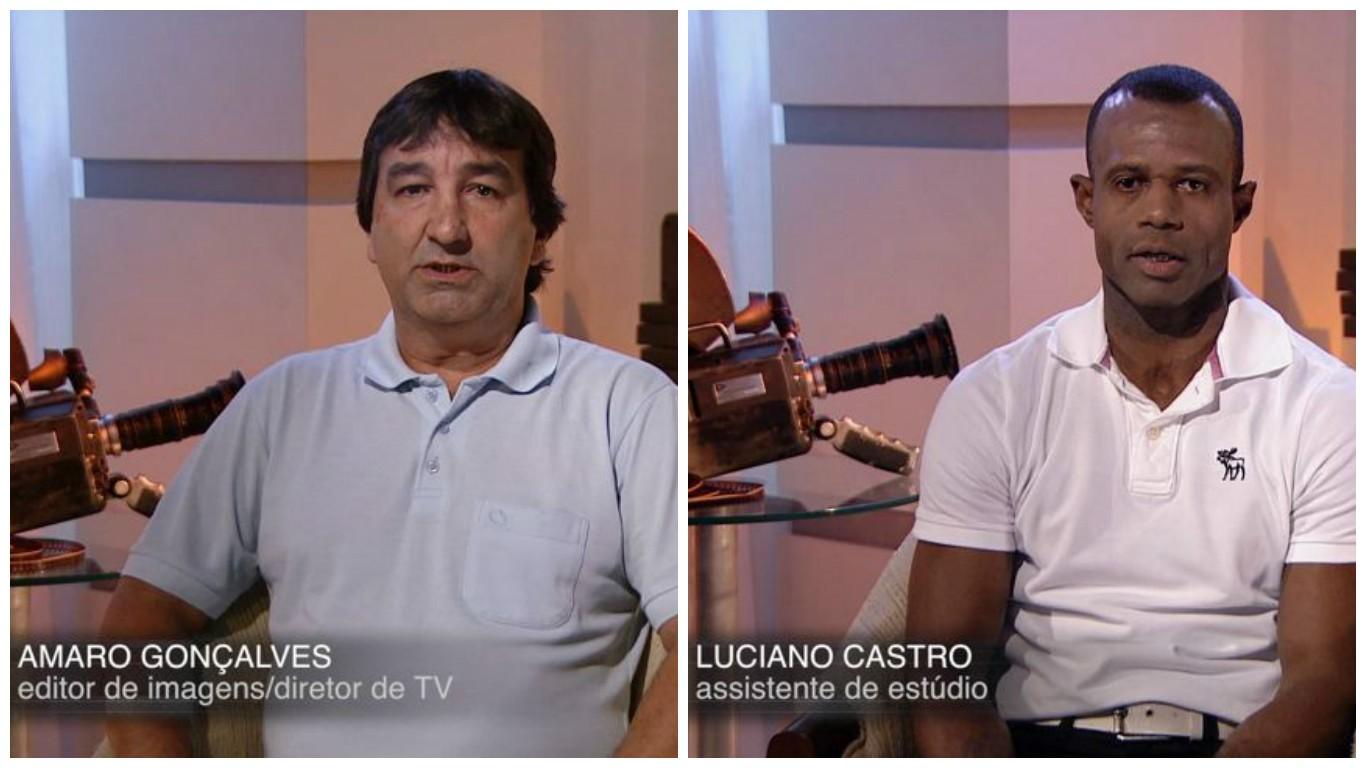 Amaro Gonçalves e Luciano Castro (Foto: Divulgação/ TV Gazeta)