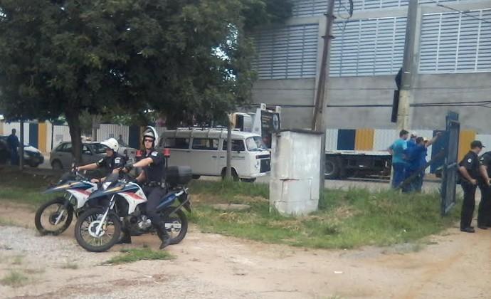 Guarda Municipal no Teatrão em São José dos Campos (Foto: Mancha Azul/ Divulgação)