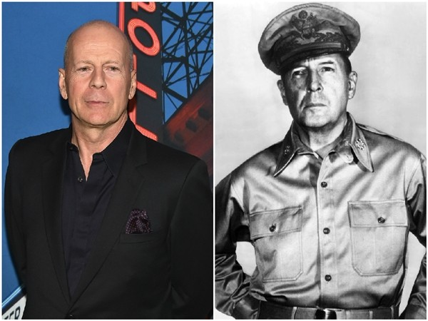 Bruce Willis e o General Douglas MacArthur  (Foto: Getty Images/Divulgação)
