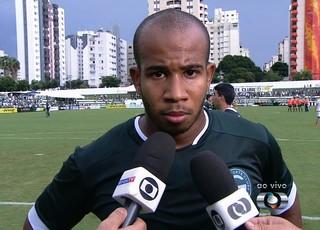 Patrick, volante do Goiás (Foto: Reprodução/TV Anhanguera)