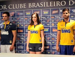Nova camisa do Cruzeiro (Foto: Washington Alves / Light Press)