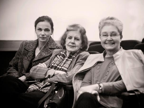 O trio: Yara de Novaes, Lygia Fagundes e Maria Adelaide Amaral (Foto: Ronaldo Aguiar)