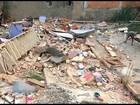 Casa desaba e deixa três pessoas feridas em Belford Roxo, Baixada