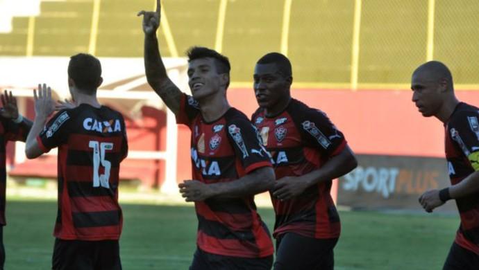 Vitória comemoração de gol contra o América-RN (Foto: Divulgação / EC Vitória)