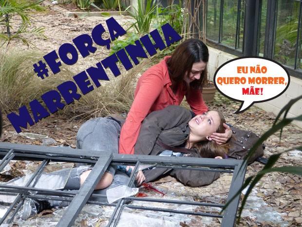 COMO ASSIM? A Lia chamou a Raquel de mãe :O (Foto: Malhação / TV Globo)