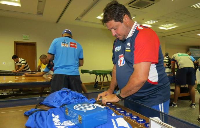 Josué Neto, Futebol de Mesa (Foto: João Áquila / GloboEsporte.com)