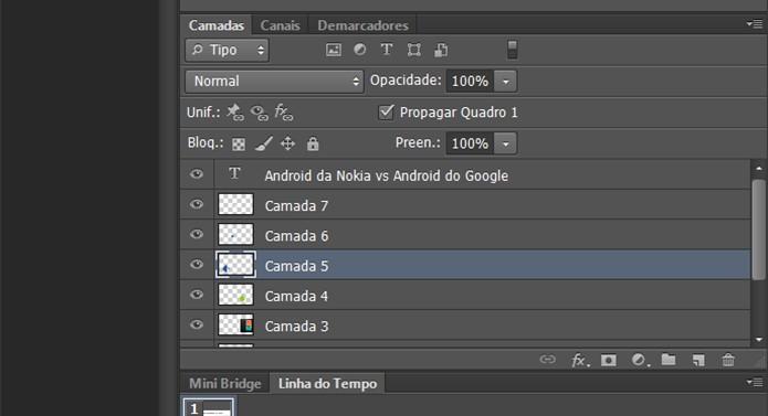 Photoshop tem painel que permite usuário filtrar tipos de camadas (Foto: Reprodução/Elson de Souza)