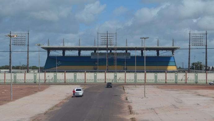 Estádio Olímpico Zerão; Futebol; Amapá (Foto: Jéssica Alves/G1-AP)