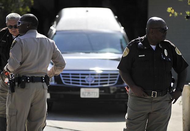 A polícia acompanhou toda a cerimônia (Foto: Getty Images)