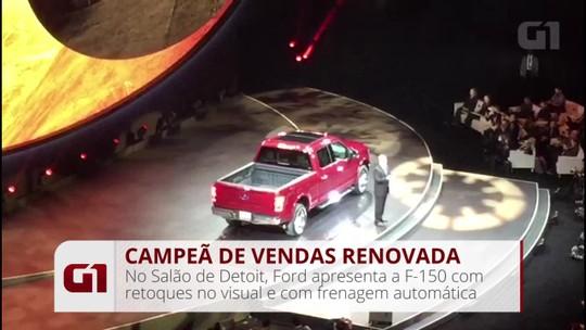 Líder de vendas há 35 anos nos EUA, Ford F-150 ganha visual reestilizado
