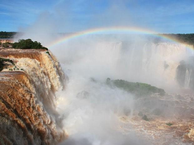 vazão cataratas (Foto: Adilson Borges / Parque Nacional do Iguaçu)