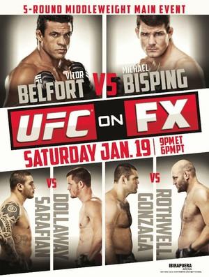 Pôster oficial do UFC: Belfort x Bisping (Foto: Reprodução/Twitter)
