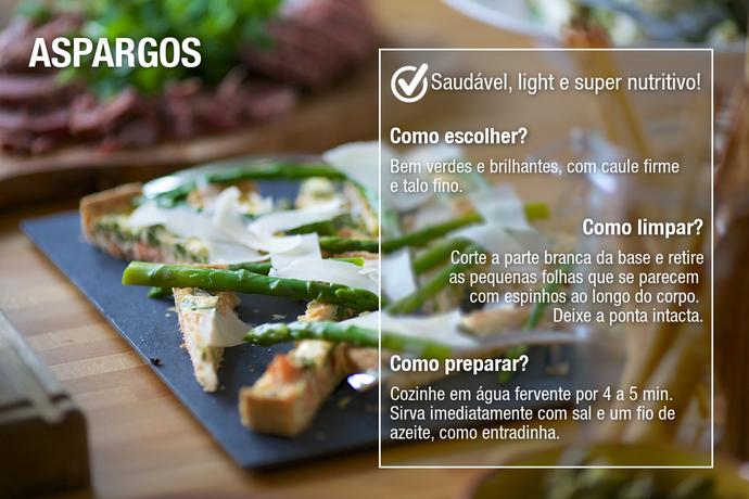 Aspargos dão um charme todo especial ao prato (Foto: Divulgação)