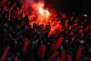 River x Tigres - decisão da Libertadores (Foto: CHARLY DIAZ AZCUE/AFP)