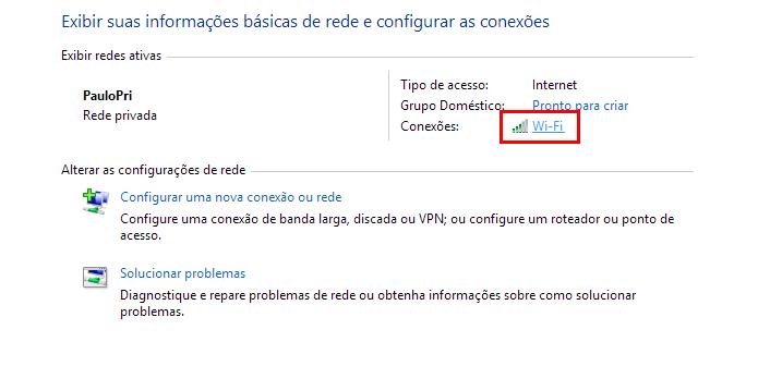 Acesse suas configurações de Wi-Fi (Foto: Reprodução/Paulo Alves)